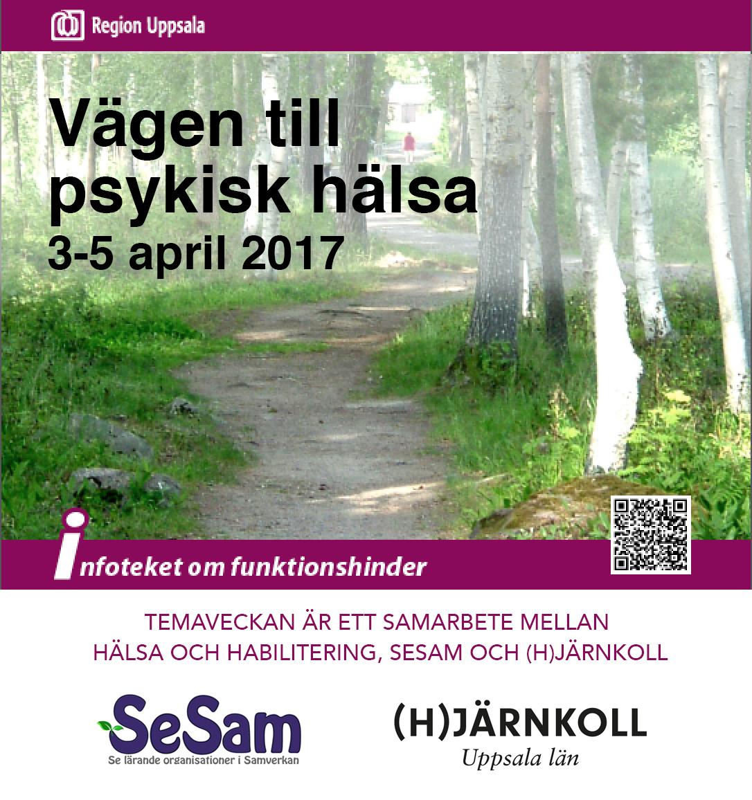 4 april – Temadag om Vägen till psykisk hälsa