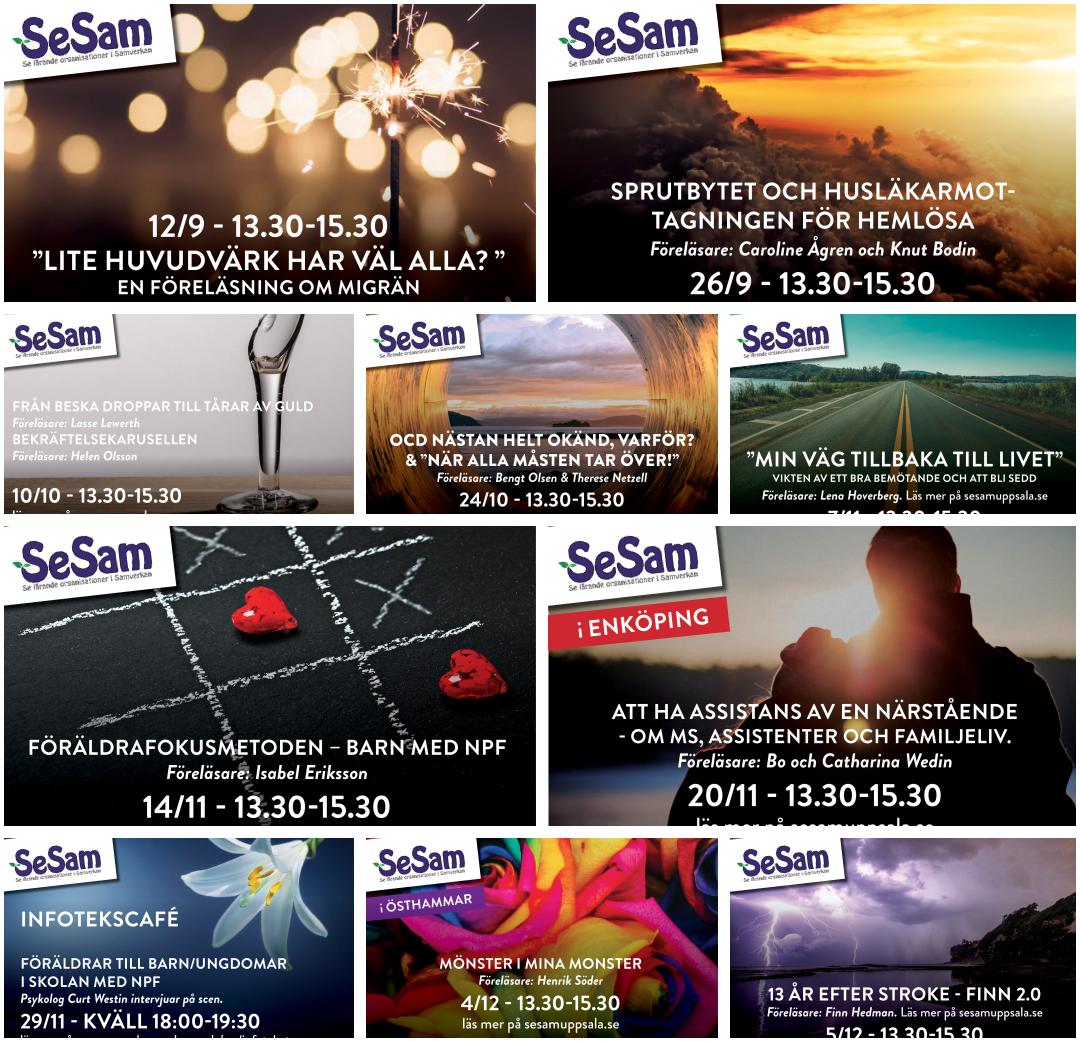 SeSam-föreläsningar Höst 2017
