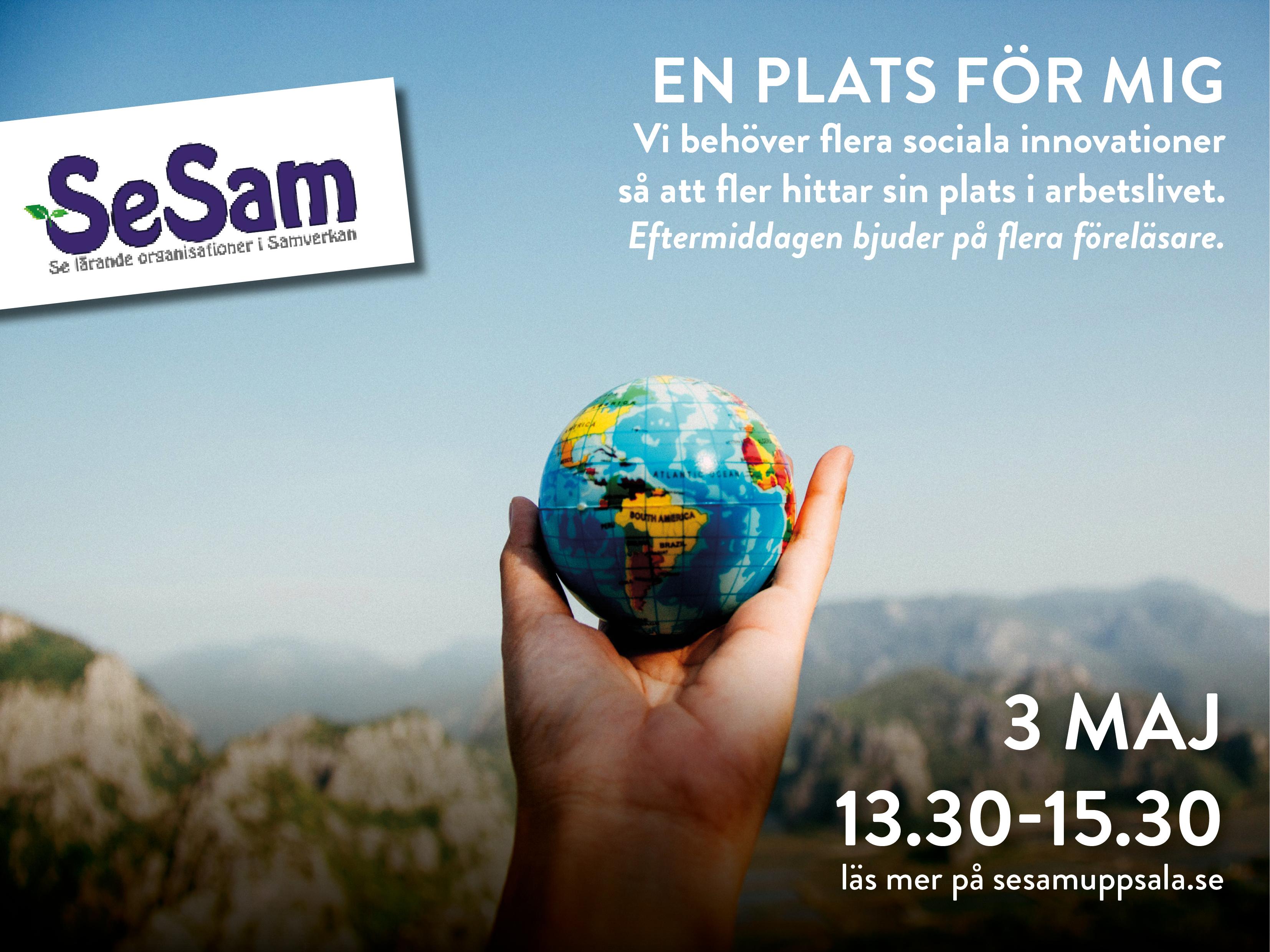3 maj – En plats för mig – en föreläsning från SeSam