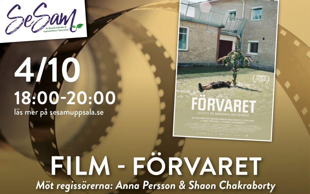 """SeSamföreläsning 4/10 – Filmvisning """"Förvaret"""""""